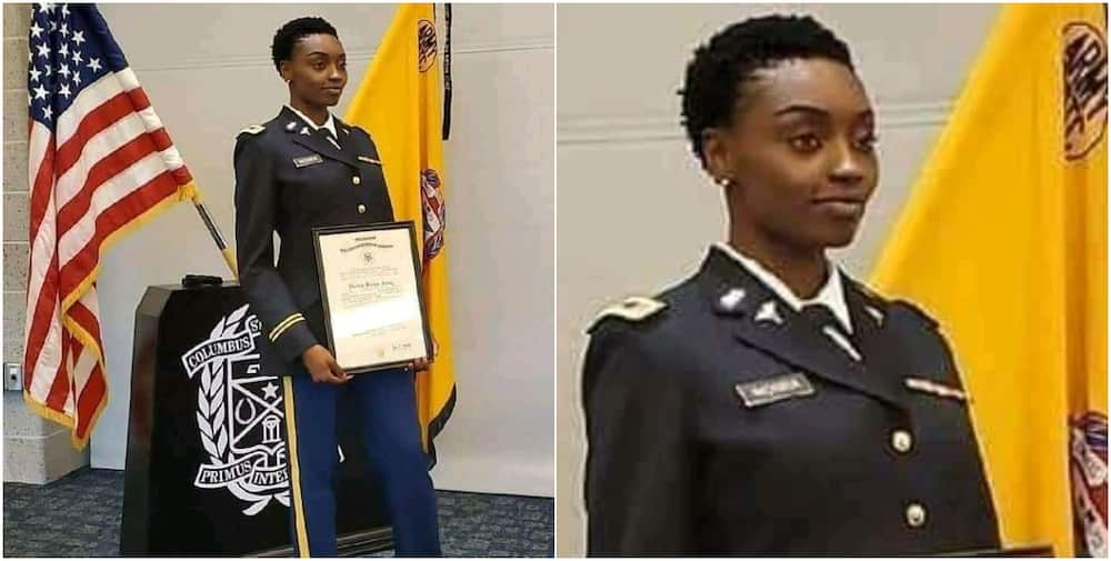 Nigerian lady makes country proud, gets commissioned as second lieutenant in US Marine