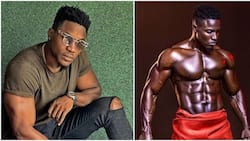 BBNaija Bassey leaves female fans drooling with hot new shirtless photo