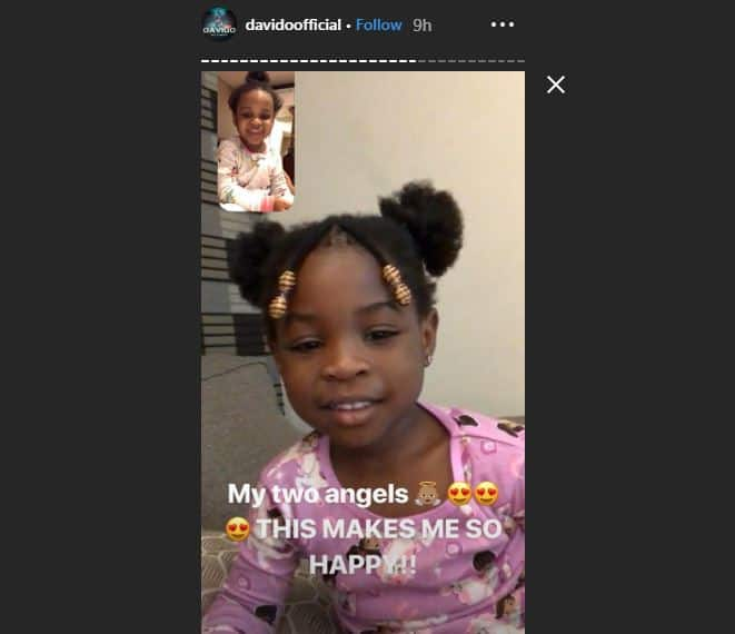 This makes me so happy! - Davido says as his two daughters facetime each other