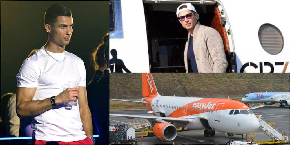 Cristiano Ronaldo owns the most expensive private jet, 2nd is Messi while Ibrahimovic is 3rd