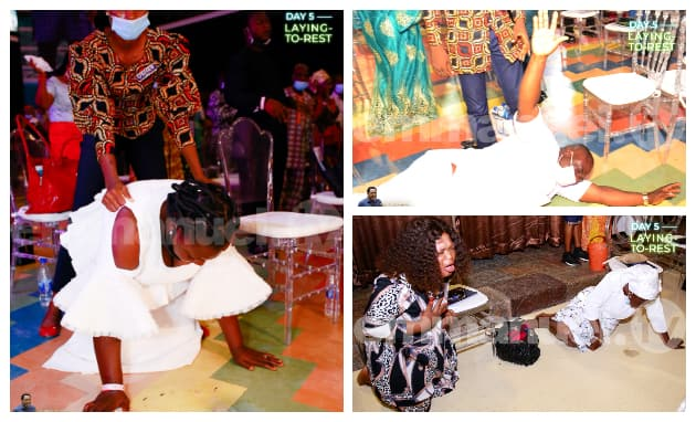 Photos of SCOAN members under the anointing