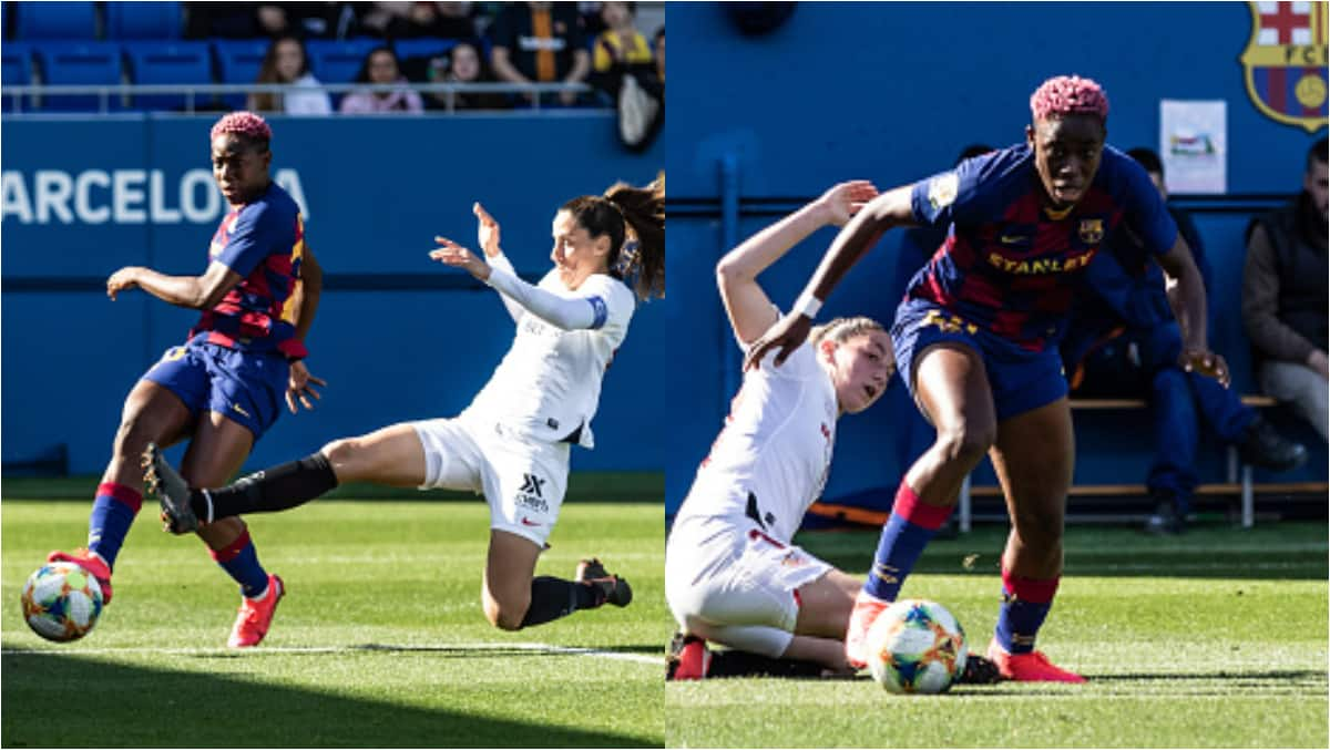 Oshoala scores 15th goal in 17 league matches in Barca's 3-0 win over Sevilla