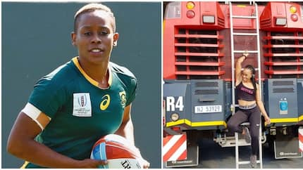 Meet Zinhle Ndawonde, a firefighter on weekdays and rugby player on weekends