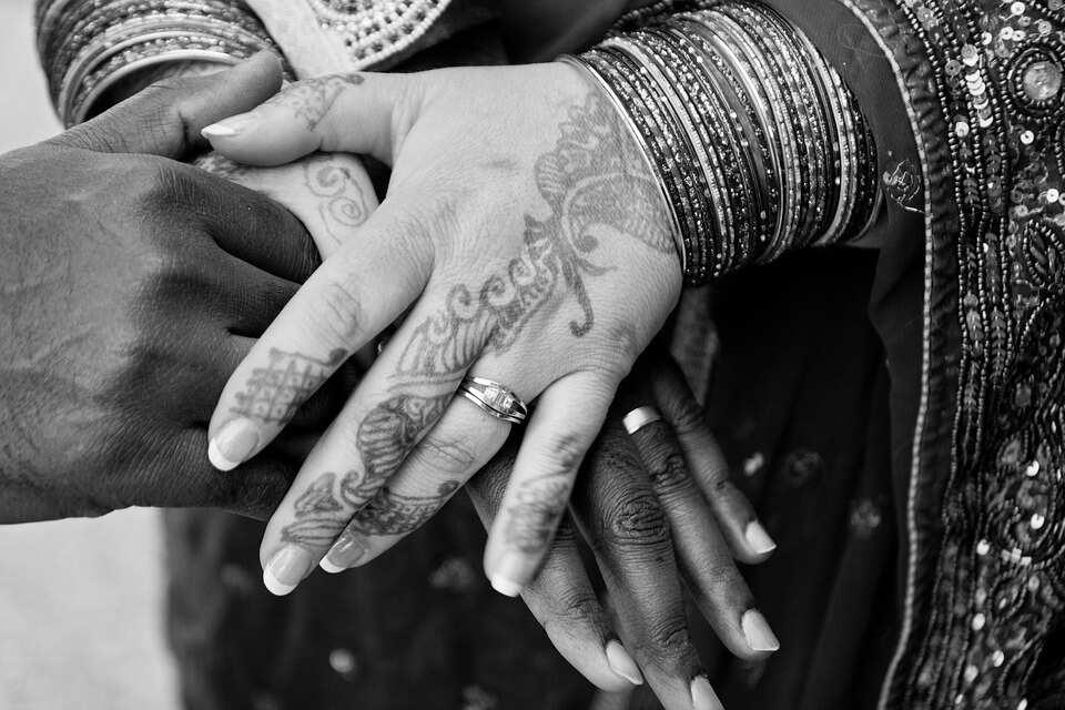 Gentle henna tattoos