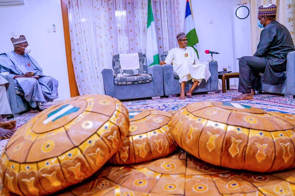See how President Buhari celebrates over rescue of abducted Kankara students