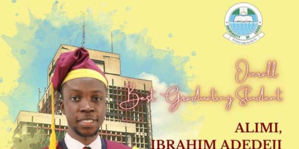 Alimi Ibrahim Adedeji graduated with a CGPA of 4.98
