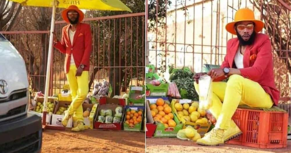 Reactions trail photos of vegetable seller dressed in stylish suit