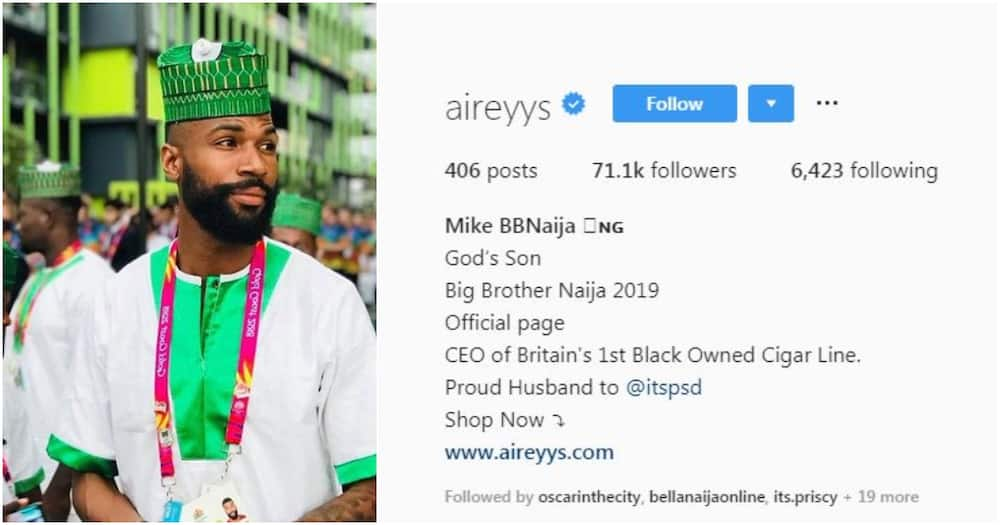 BBNaija 2019: Tacha becomes first female housemate to be verified on Instagram