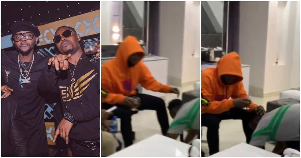 Singer Demmie Vee apologizes, prostrates to Kizz Daniel as they settle their messy fight