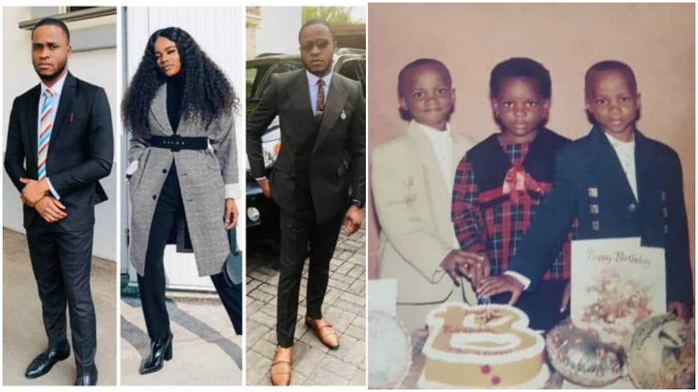 Nigerian triplet step out in style on their birthday, share throwback photo