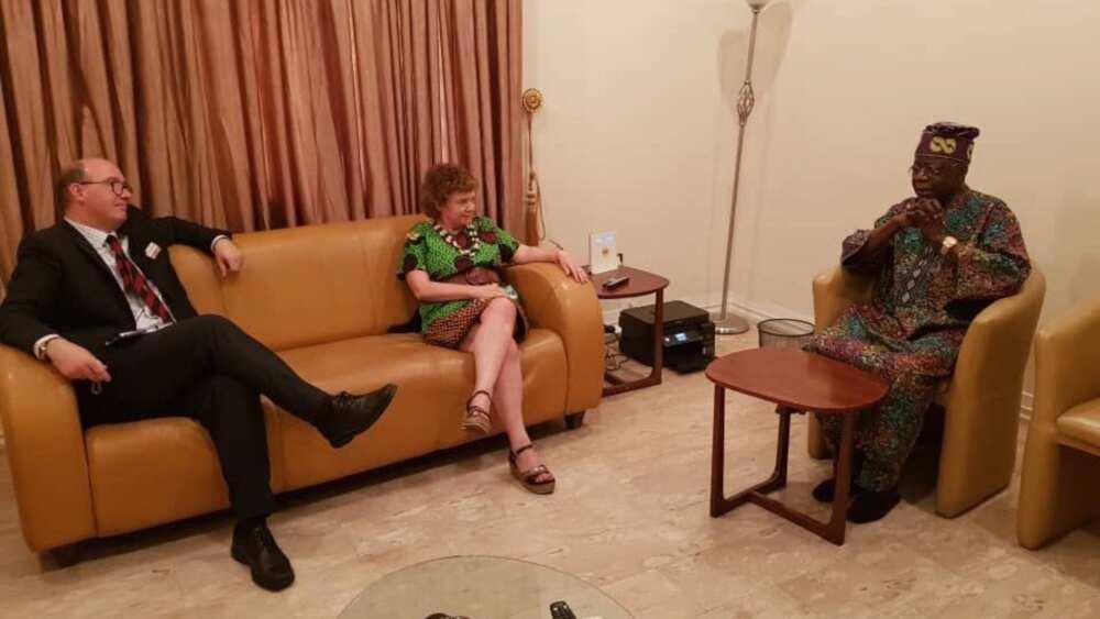 UK envoy to Nigeria meets Tinubu in Lagos (photo)