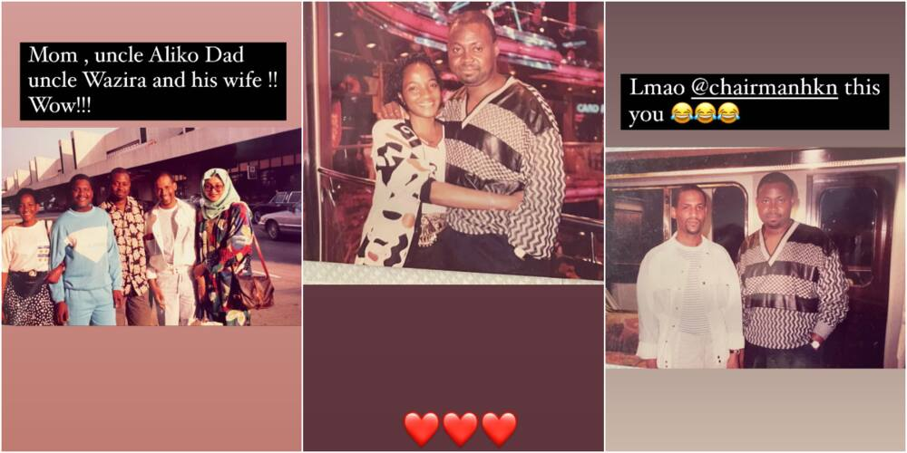 Davido's parents spotted with some family friends