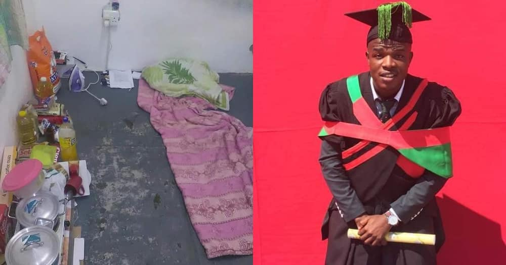 Man Inspires SA, Shares Snap of Floor He Slept on Before Graduating