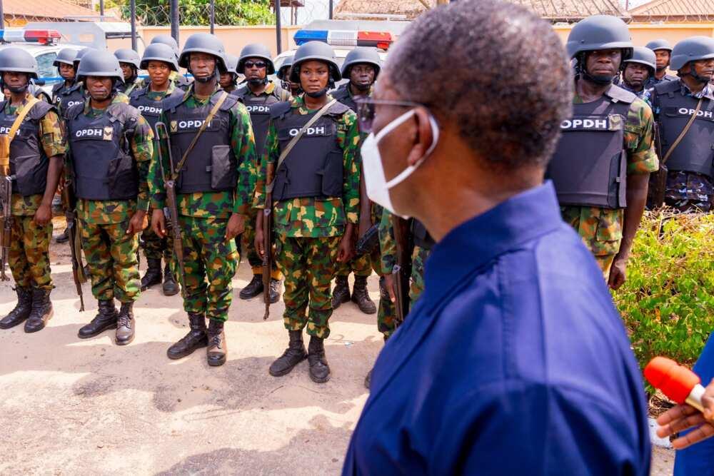 Gov Okowa inaugurates Operation Delta Hawk in Delta state, calls for support