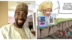 Why I did controversial artwork on Aisha Buhari, daughter's wedding - Cartoonist finally speaks