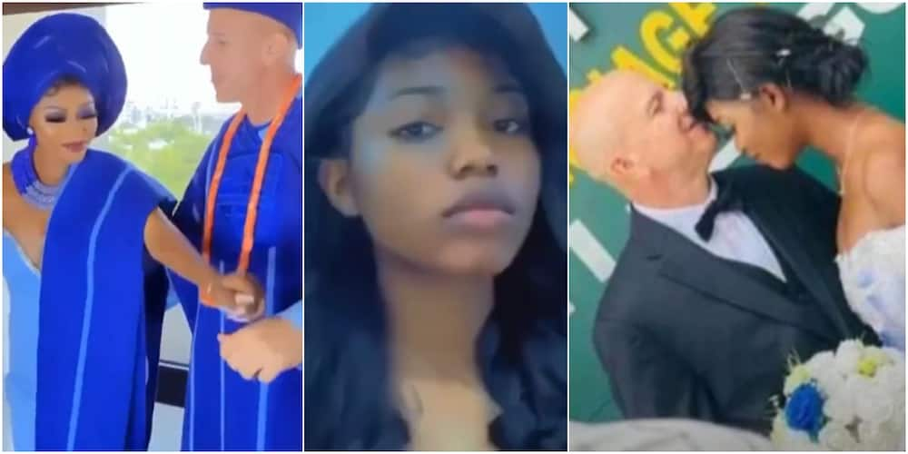 The couple fell in love and the white man came to Nigeria to wed the young lady