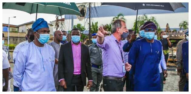 EndSARS: Sanwo-Olu visits TVC, consoles staff, management