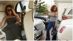 Keep praying and believing - Popular blogger Linda Ikeji advises fans as she poses in her Bentley