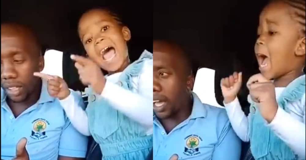 Little Girl Breaks the Internet with Melodious Voice as She Sings Popular Gospel Song with Dad, Many Hail Her