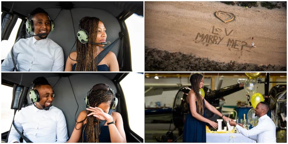 Marry me? Man proposes to girlfriend from an helicopter, social media reacts