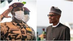BREAKING: Buhari meets Chad's interim president in Aso Rock