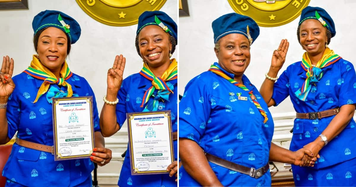 First lady of Lagos, deputy governor's wife rock uniform of Nigeria Girl Guides Association - Legit.ng