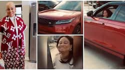 Balling in the US: Veteran Nollywood actress Bukky Wright gets new Range Rover from son as birthday gift