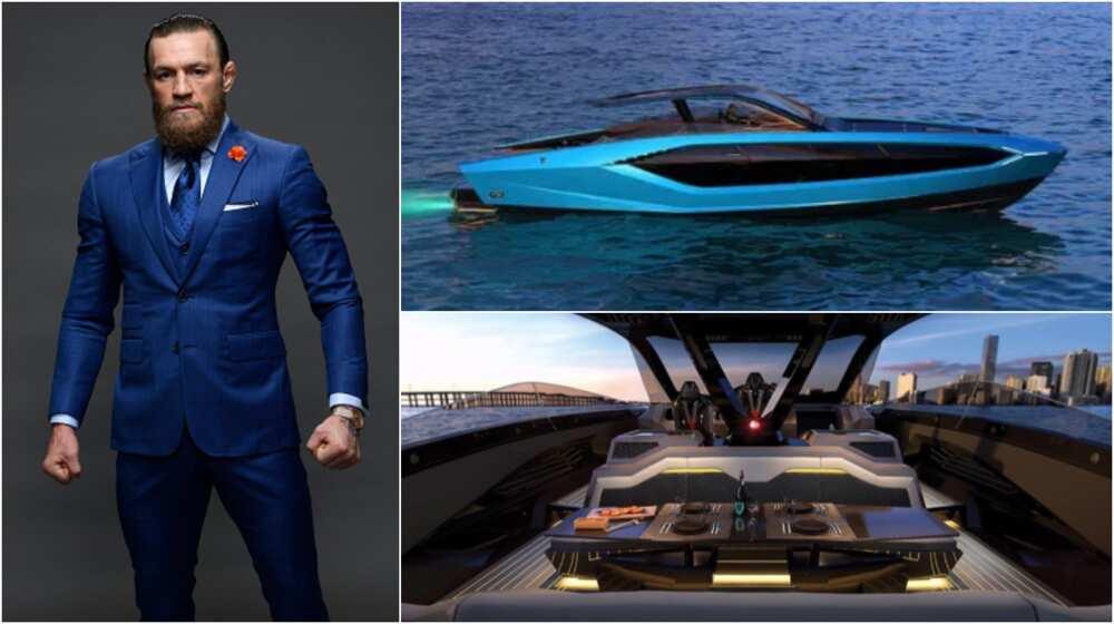 Conor McGregor shows off £2.7m Lamborghini yacht dubbed Supercar of the Sea