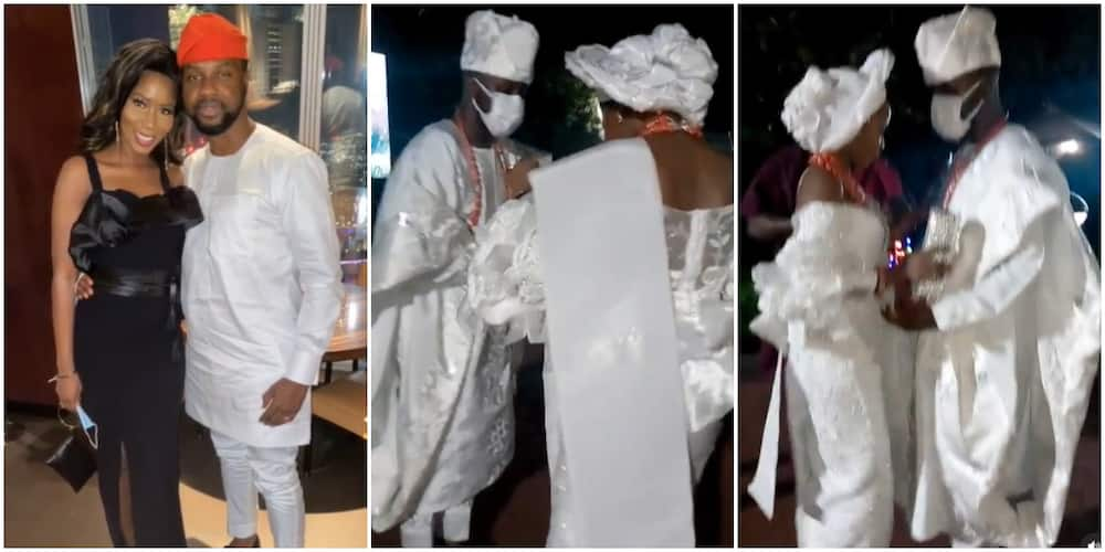 Media Personality Debola Williams shows off dancing skills at introduction ceremony (video)