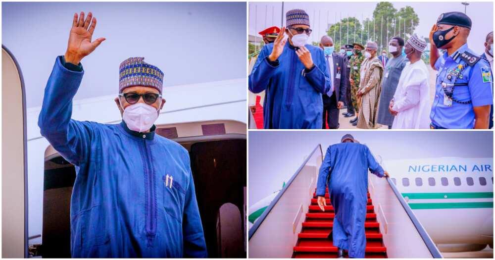 Breaking: President Buhari departs Nigeria for medical check-up in UK