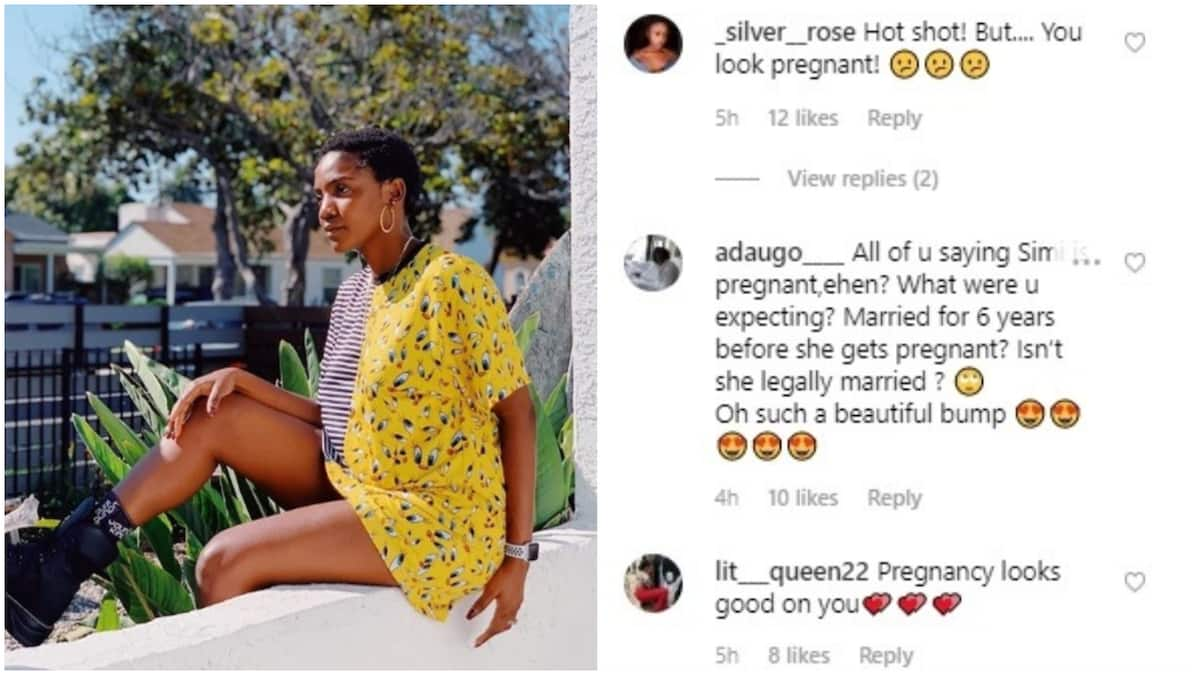 Image result for Nigerian singer Simi fuels pregnancy speculations with new photo Read more: https://www.legit.ng/1243348-nigerian-singer-simi-fuels-pregnancy-speculations-photo.html