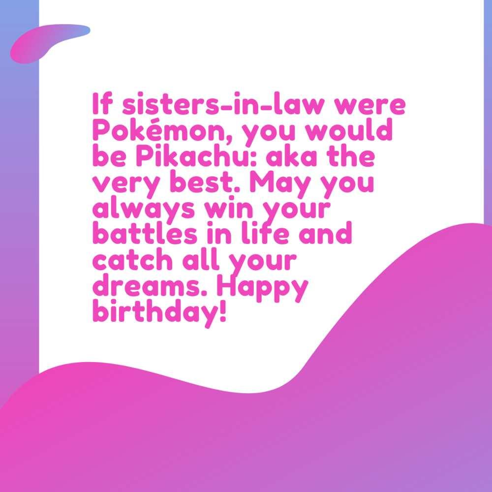sister in law birthday