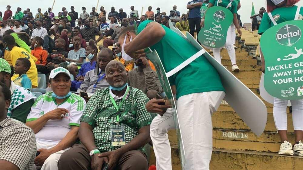 Super Eagles Record Win Against Liberia in Germ-Free Stadium Courtesy of Dettol
