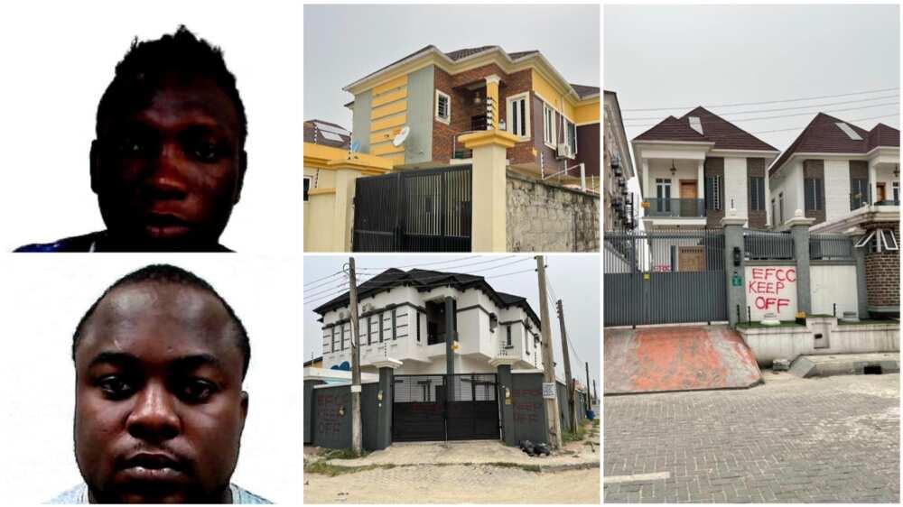 EFCC Unveils List of N230m Duplexes, N204m Cash, N30m Vehicles 2 Fraudsters Lose to FG in Lagos
