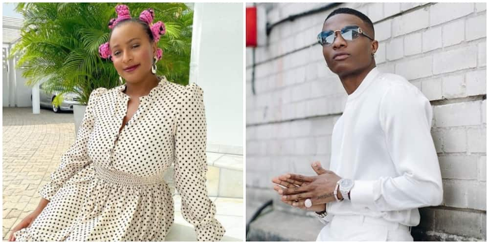 DJ Cuppy reacts as fan suggests she makes a song with Wizkid