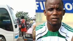 Drama as Nigerian footballer stops former club's bus, seizes it over unpaid salaries as players go to stadium on 'Okadas'