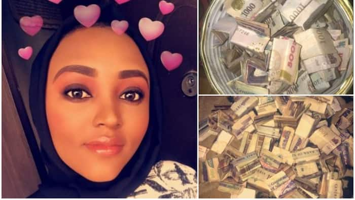 Nigerian lady impressed as she finds N40,700 in her kolo after saving for less than two months