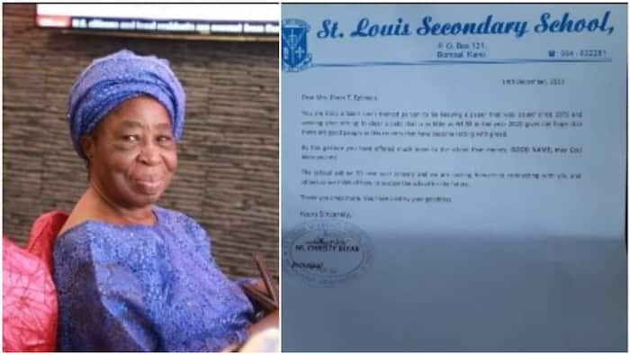 Nigerian woman finally pays school fees of N1.58k she owed in 1969, principal writes her letter from Kano
