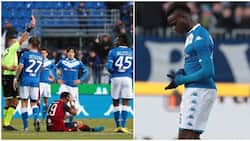 Bad boy: Balotelli sets bizarre record after being sent off 7 minutes after coming on as a substitute