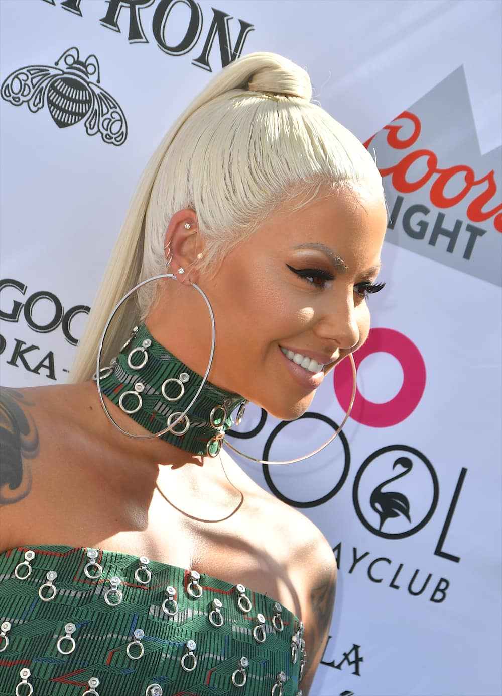 Amber Rose with hair