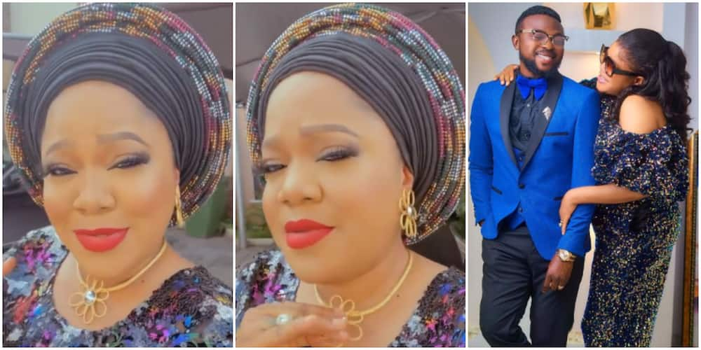 Toyin Abraham gushes over hubby in video