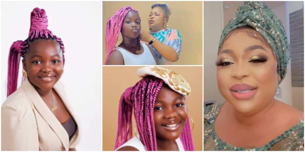 Actress Kemi Afolabi celebrates daughter's birthday.