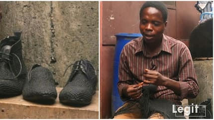 Visually-impaired Nigerian man who is a cobbler inspires many (video)