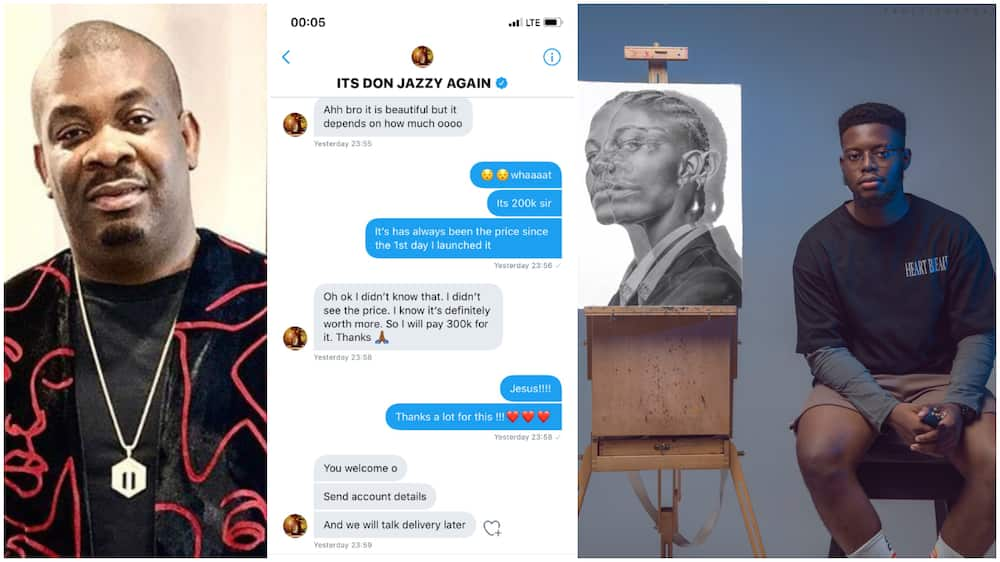 Don Jazzy supports young Nigerian artist, buys his work for N300k