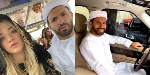 Aguero jets out to Abu Dhabi for winter break with girlfriend Sofia Calzetti
