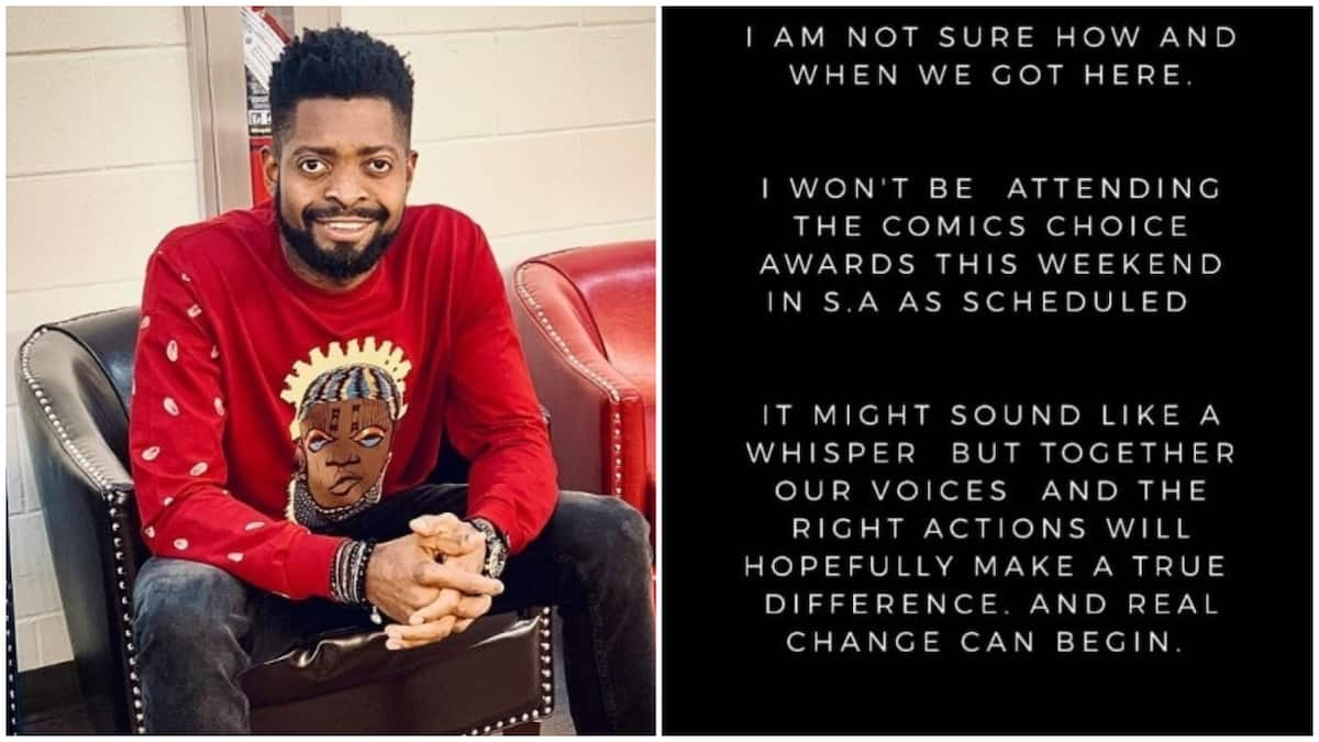 Xenophobia: Comedian Basketmouth cancels trip to South Africa for award show