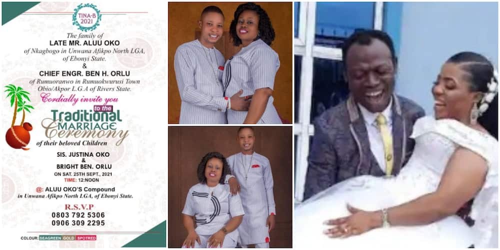 Nigerians react to new wedding invite of man who accused pastor of marrying his wife