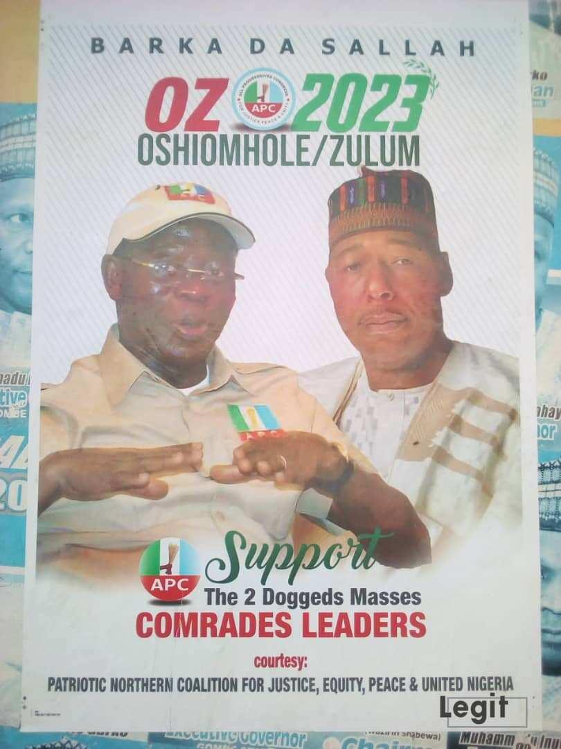 Hotunan Zulum da Oshiomole Na Yakin Neman Shugaban Kasa a 2023 Sun Bazu a Gombe