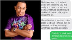 This is insane - Daddy Freeze shares chat with lady who told him God said OAP would give her N2m