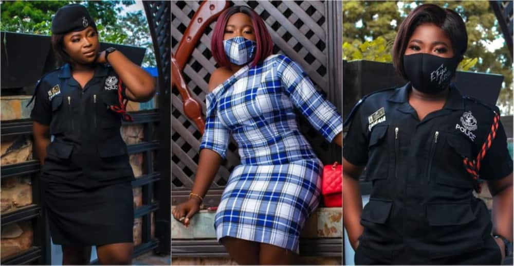 A collage of the police officer on her birthday. Photo source: Instagram/Crabbitamedia